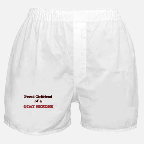 Proud Girlfriend of a Goat Herder Boxer Shorts