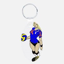 SEXY VOLLEY GIRL ORANGE RIBBON Keychains
