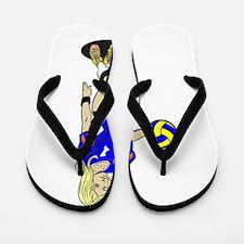 SEXY VOLLEY GIRL ORANGE RIBBON Flip Flops
