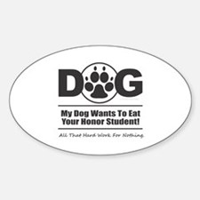 Dog Eat Student Decal