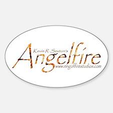 Angelfire logo Oval Decal
