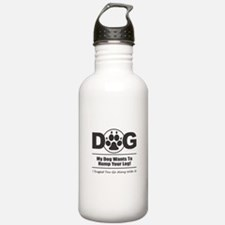 Dog Hump Leg Water Bottle