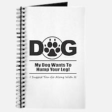 Dog Hump Leg Journal