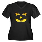 Maniacal Carved Pumpkin Women's Plus Size V-Neck D