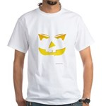Maniacal Carved Pumpkin White T-Shirt