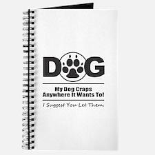 Dog Craps Anywhere Journal