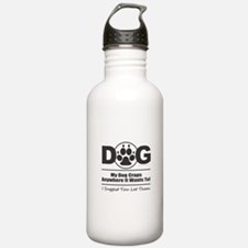 Dog Craps Anywhere Water Bottle