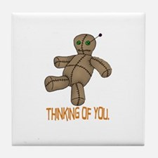 Voodoo Doll Tile Coaster