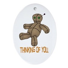 Voodoo Doll Oval Ornament