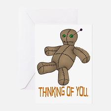 Voodoo Doll Greeting Card