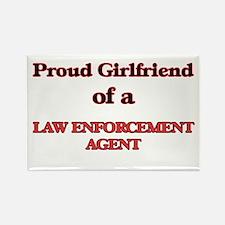 Proud Girlfriend of a Law Enforcement Agen Magnets