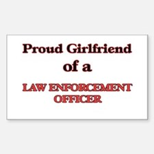 Proud Girlfriend of a Law Enforcement Offi Decal