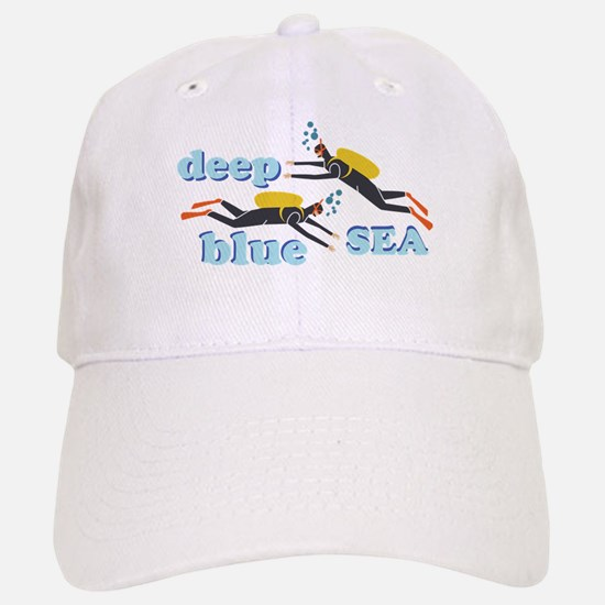 deep crown baseball caps hats extra blue sea cap