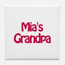 Mia's Grandpa Tile Coaster