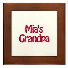 Mia's Grandpa Framed Tile