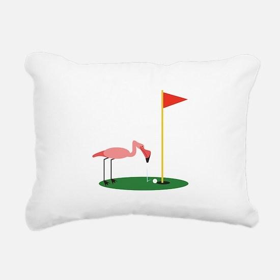 Golf Birdy Rectangular Canvas Pillow