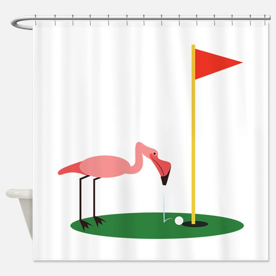 Golf Birdy Shower Curtain