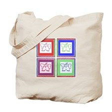 4 Square Elephants Tote Bag