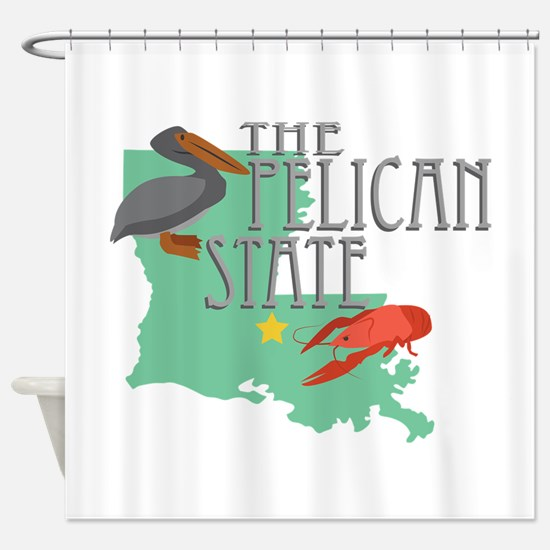 Pelican State Shower Curtain