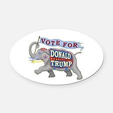 Donald Trump 2016 Elephant Preside Oval Car Magnet