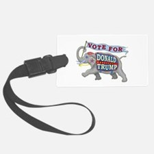 Donald Trump 2016 Elephant Presi Luggage Tag
