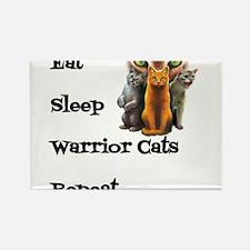Eat Sleep Warrior Cats Repeat Magnets