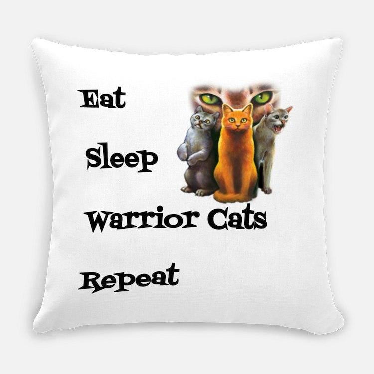 Eat Sleep Warrior Cats Repeat Everyday Pillow