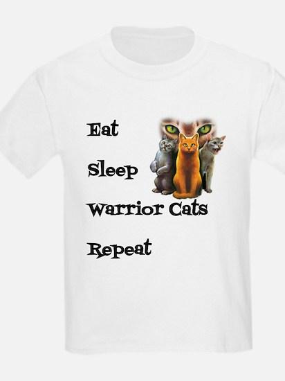 Eat Sleep Warrior Cats Repeat T-Shirt