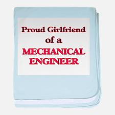 Proud Girlfriend of a Mechanical Engi baby blanket
