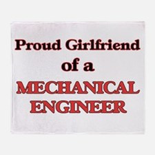 Proud Girlfriend of a Mechanical Eng Throw Blanket