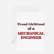 Proud Girlfriend of a Mechanical En Greeting Cards