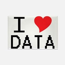 I Heart Data Rectangle Magnet