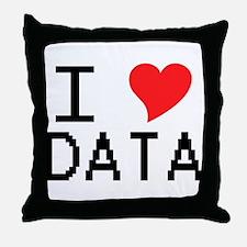I Heart Data Throw Pillow