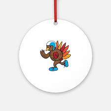 Football Turkey Round Ornament