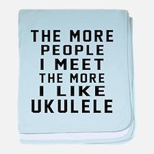 I Like More Ukulele baby blanket