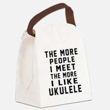 I Like More Ukulele Canvas Lunch Bag