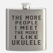 I Like More Ukulele Flask