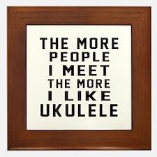 I Like More Ukulele Framed Tile