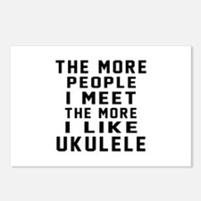 I Like More Ukulele Postcards (Package of 8)