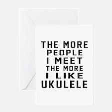 I Like More Ukulele Greeting Card