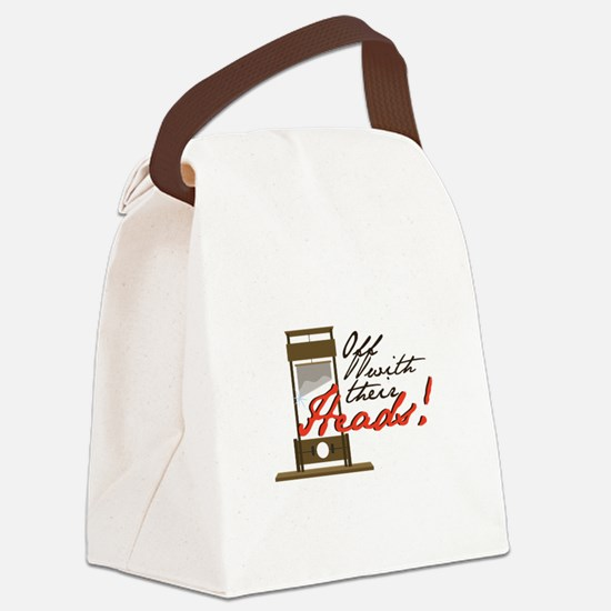 Off With Heads Canvas Lunch Bag