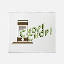 Guillotine Chop Throw Blanket