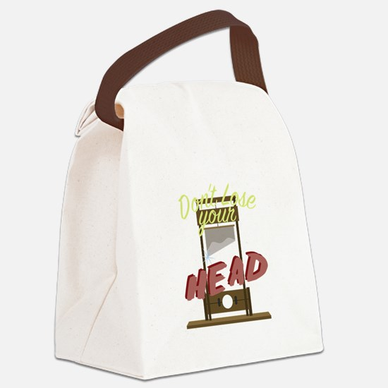 Lose Your Head Canvas Lunch Bag