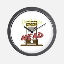 Lose Your Head Wall Clock