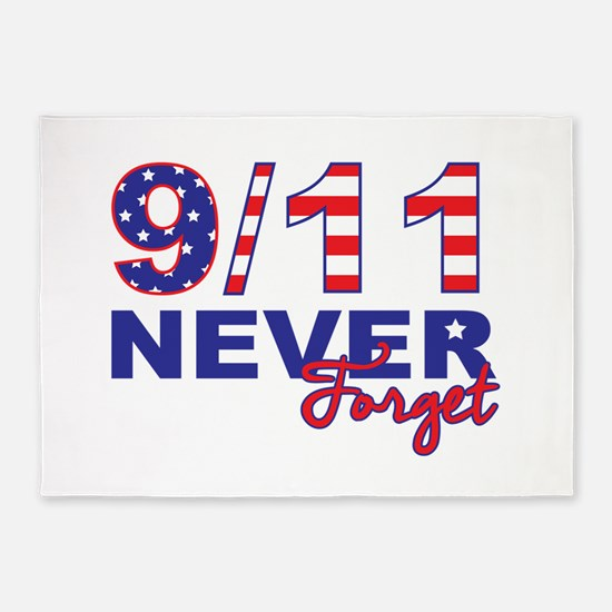 Never Forget 9/11 5'x7'Area Rug
