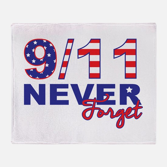 Never Forget 9/11 Throw Blanket