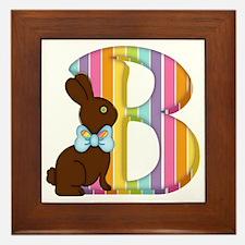 Cute Rabbit easter bunny chocolate make mine chocolate Framed Tile