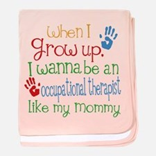 Occupational Therapist Like Mommy baby blanket