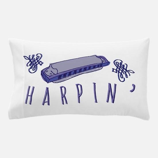 Harmonica Harpin Pillow Case