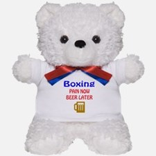 Boxing Pain now Beer later Teddy Bear